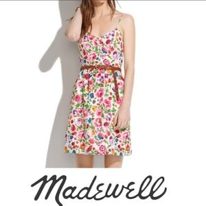Madewell Cami Floral Silk Dress Size 8